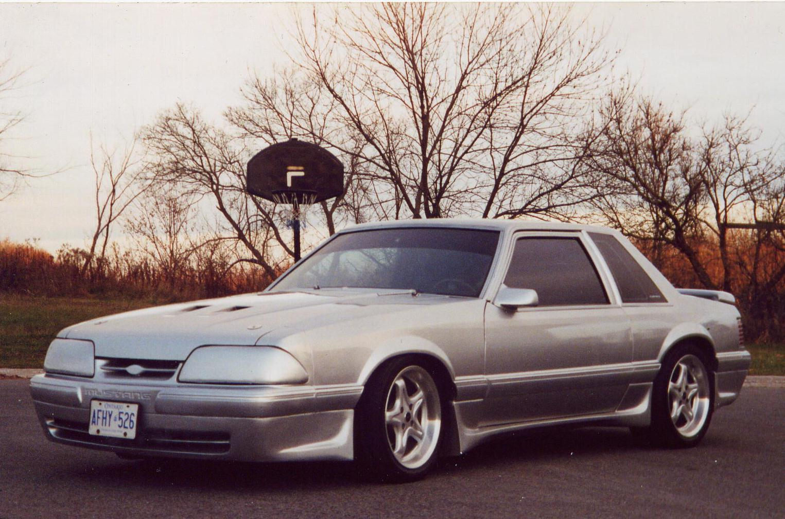 1990 Mustang DECH Silver Coupe