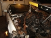Burnt Engine Being Removed