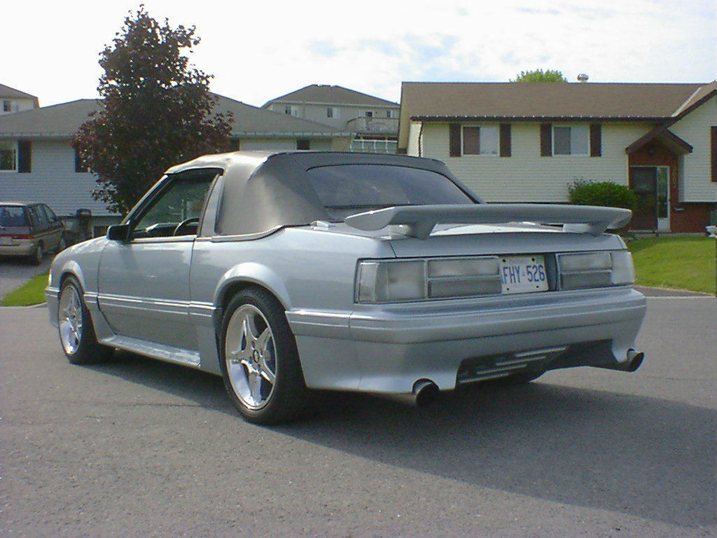1988 Mustang GT Convertible Silver